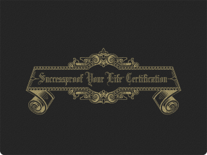Successproof Your Life℠ service certificate cover